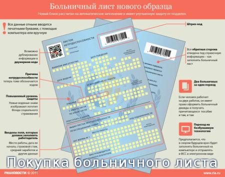 Покупка больничного листа
