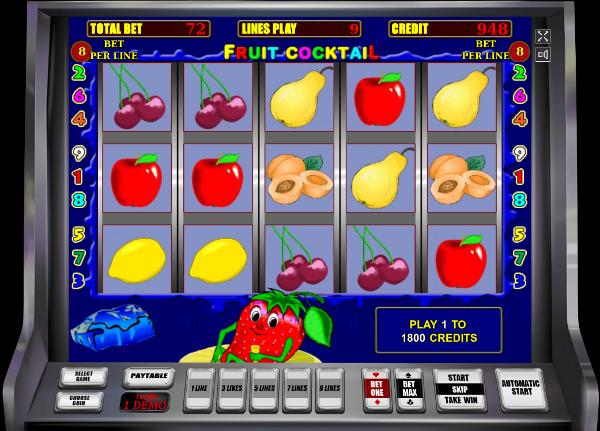 Игровой автомат Fruit Cocktail - азартные клубнички для игроков казино Вулкан
