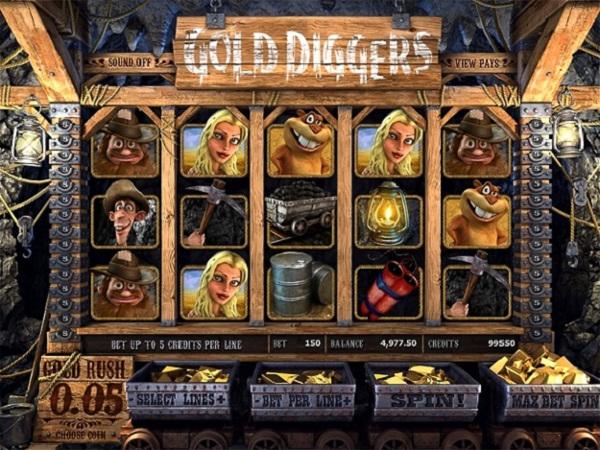 Игровой автомат Gold Diggers - для любителей золотой лихорадки