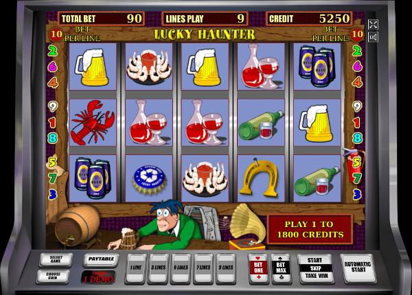 Игровой автомат Lucky Haunter - супер призы, бонусы и выигрыши в казино Чемпион
