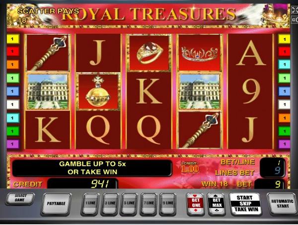 Игровой автомат Royal Treasures - королевская удача и богатство
