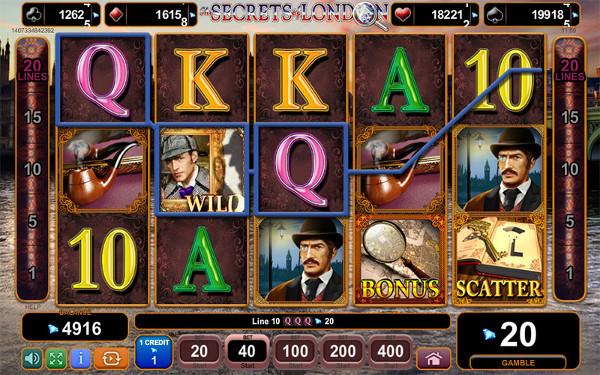 Игровой автомат The Secrets of London - невероятные выигрыши для игроков Казино Икс