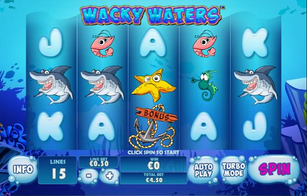 Игровой автомат Wacky Waters - приключения в подводном мире